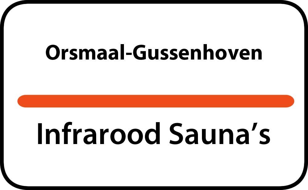 infrarood sauna in orsmaal-gussenhoven