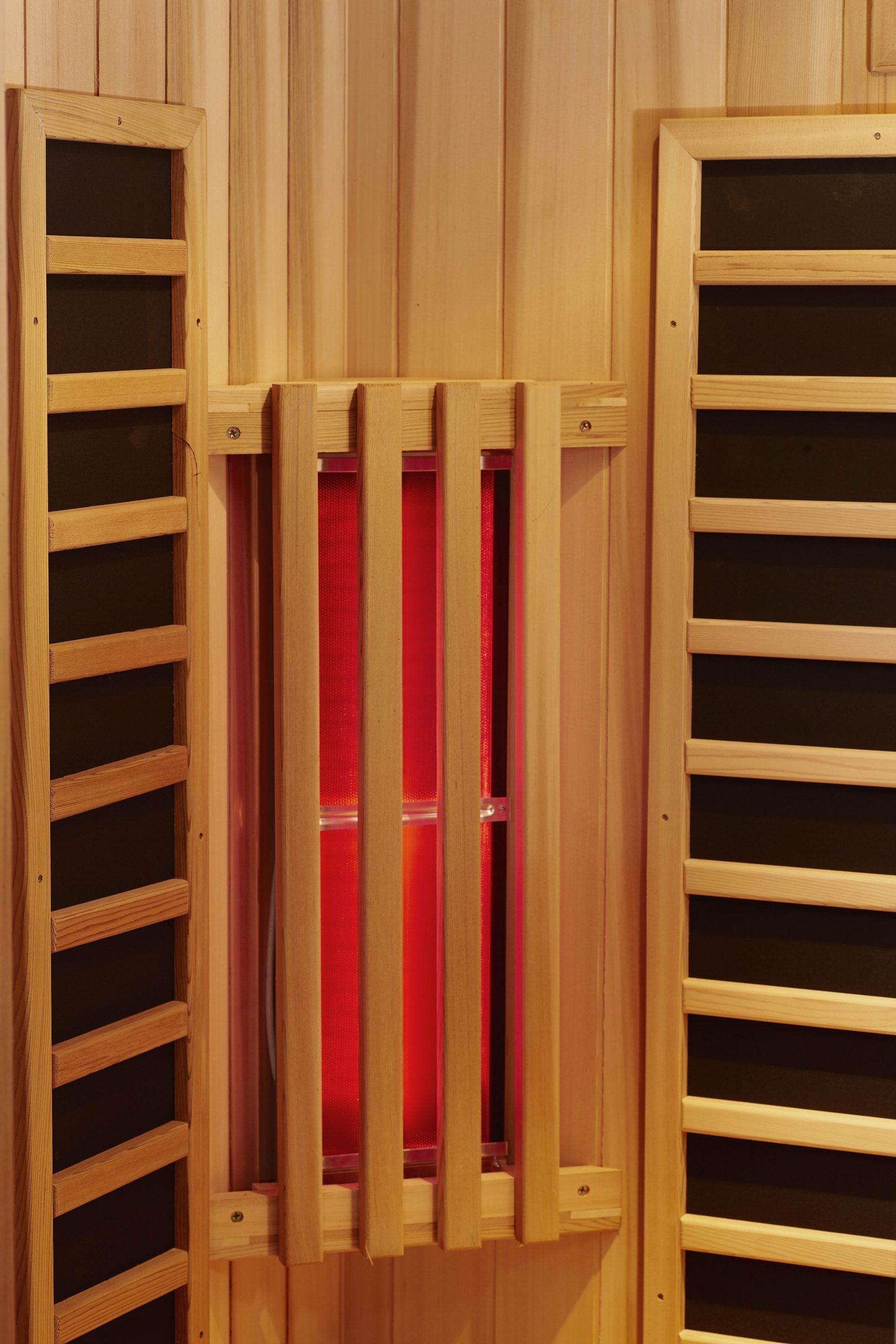 onderdelen van een infrarood sauna